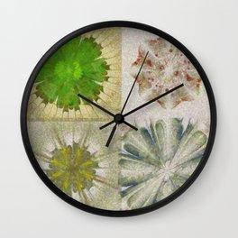 Grasshouse Configuration Flower  ID:16165-050526-69250 Wall Clock