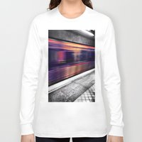 subway Long Sleeve T-shirts featuring Subway by Yancey Wells
