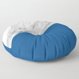 Marble and Lapis Blue Color Floor Pillow