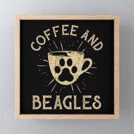 Beagles Saying Funny Framed Mini Art Print