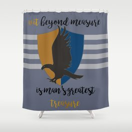 Ravenclaw Wit Beyond Measure Shower Curtain