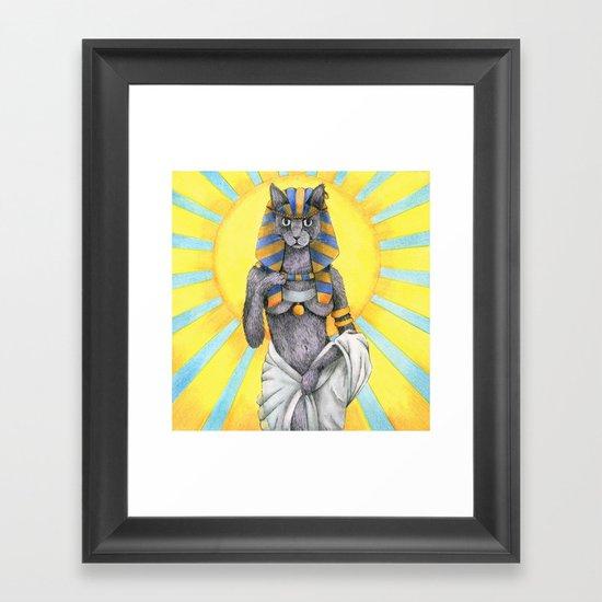 Lady Bast Framed Art Print