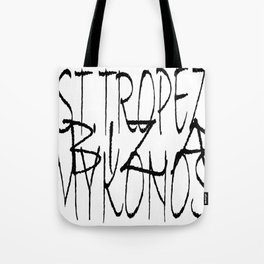 St. Tropez, Ibiza and Mykonos. Tote Bag