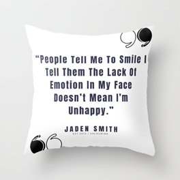 20  |  Jaden Smith Quotes | 190904 Throw Pillow