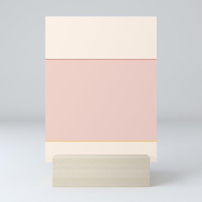 Subtle Spring Color Block Mini Art Print
