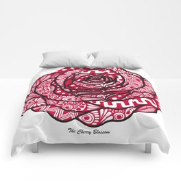 Rose red Comforters