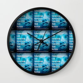 Hillary Clinton Is A Fraud Wall Clock