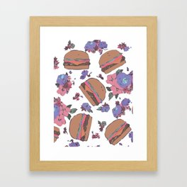 """Roses & CheeseBurgers"" Framed Art Print"