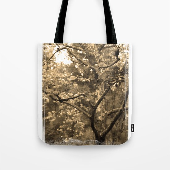 Tree of Hearts - Sepia Tote Bag