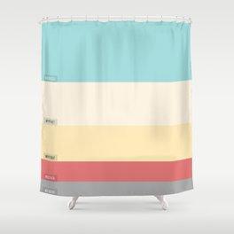 Palette color Cotton candy Shower Curtain