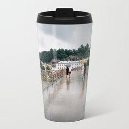 Padlock bridge in Salzburg Travel Mug