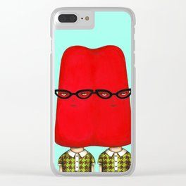 Siamese Twin Pop - Cherry Clear iPhone Case