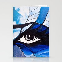 evil eye Stationery Cards featuring Evil eye by Alexandra Madhavan
