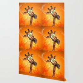 Funny cartoon giraffe Wallpaper