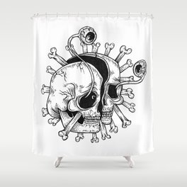 rip my eyeballs out Shower Curtain