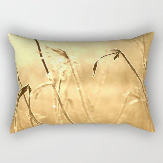 Foggy Morning With Golden Tones  Rectangular Pillow