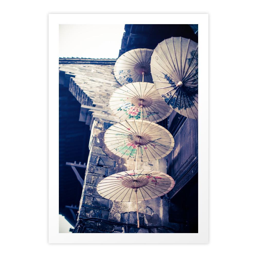 Chinese Paper Parasols Art Print by stevehphotos (PRN6772698) photo