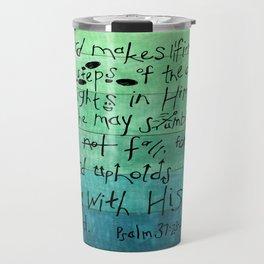 Psalm 37:23-24 Travel Mug