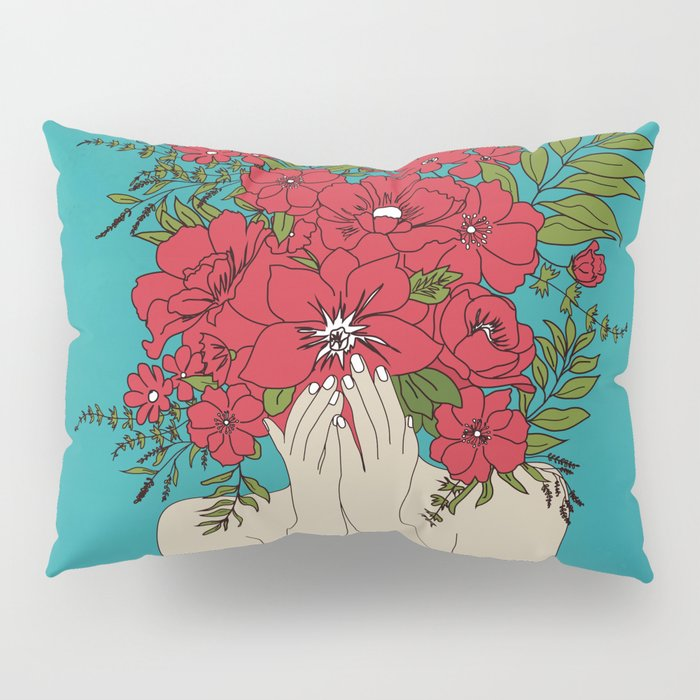 Blooming Red Pillow Sham