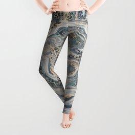 Metallic Paper Marble Leggings