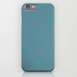 Aqua Blue and Gray Triangle Shape Pattern 2021 Color of the Year AI Aqua and Good Gray iPhone Case