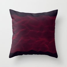 Facets - Dark Purple Throw Pillow