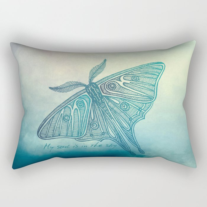 My soul is in the sky Rectangular Pillow