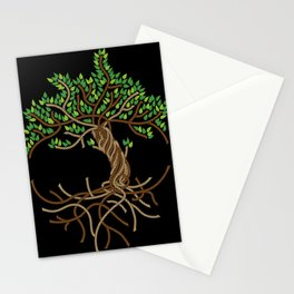 Rope Tree of Life. Rope Dojo 2017 black background Stationery Cards