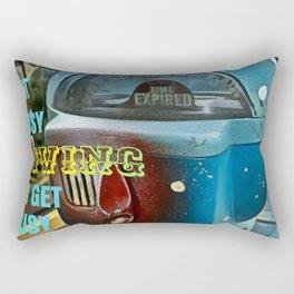 Time Flies - Get Busy Living! Rectangular Pillow