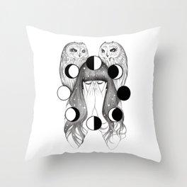 Moon Spells Throw Pillow