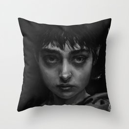 The Branded Girl Throw Pillow