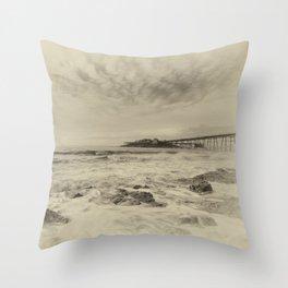 Birnbeck Pier Throw Pillow