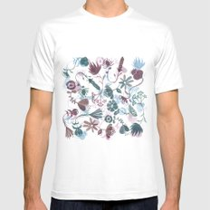 autumn flowers Mens Fitted Tee MEDIUM White