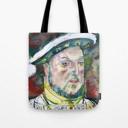 HENRY VIII of ENGLAND watercolor portarit Tote Bag