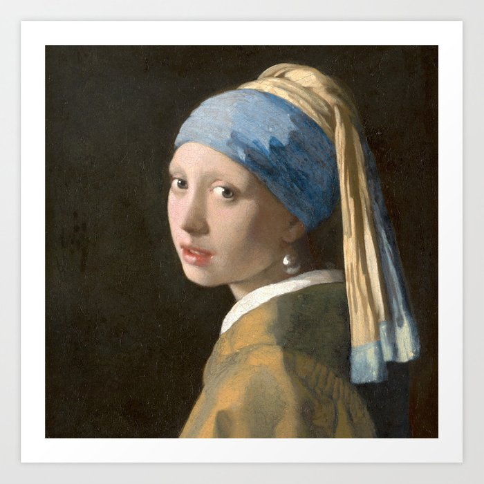 Johannes Vermeer - Girl with the pearl earring (1665) Kunstdrucke