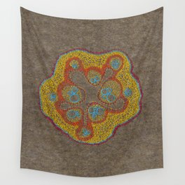 Growing - Cucumis - plant cell embroidery Wall Tapestry