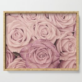 Some People Grumble - Pink Rose Pattern - Roses Serving Tray