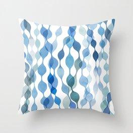 Indigo Sea Forest Throw Pillow