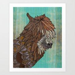 Ornate Llama Art Print