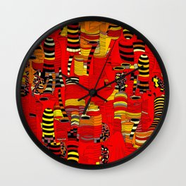 Grand Finale - Red Sky Wall Clock