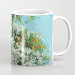 Gustave Courbet - Flowering Branches And Flowers Coffee Mug