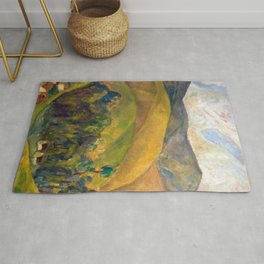 Diego Rivera - Pyrenees Mountains Catalonia, Spain landscape painting Rug
