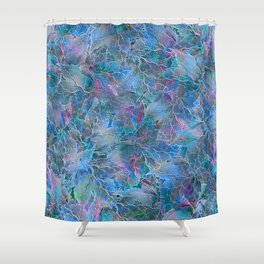 Frozen Leaves Shower Curtain