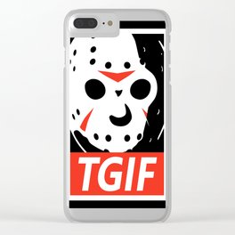 Jason TGIF Clear iPhone Case
