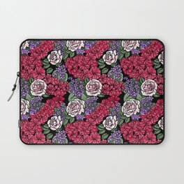 Chevron Floral Black Laptop Sleeve