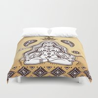 om Duvet Covers featuring om by flamenco72