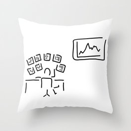 stock exchange stockbroker fund manager Throw Pillow