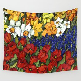 Spring Tri Color Wall Tapestry
