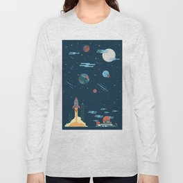 SPACE poster Long Sleeve T-shirt