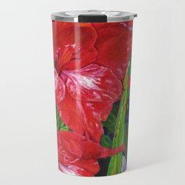 Gladiola's and Echinacea Travel Mug